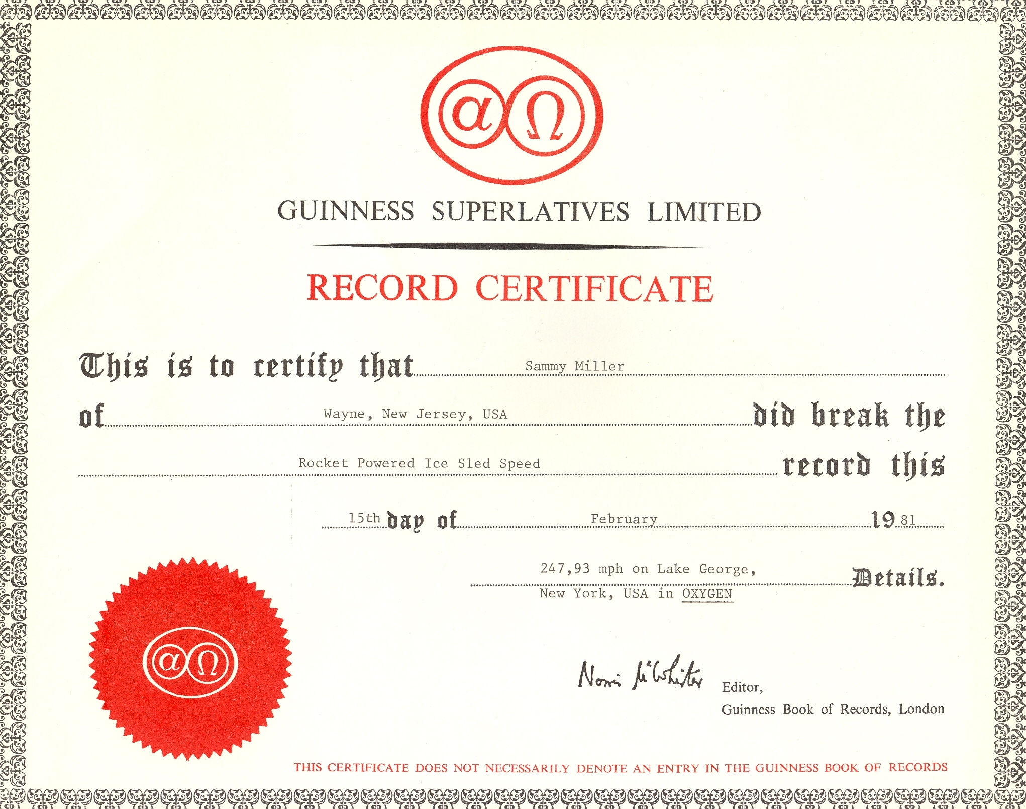 Untitled document wwwvetechnetcom for World record certificate template